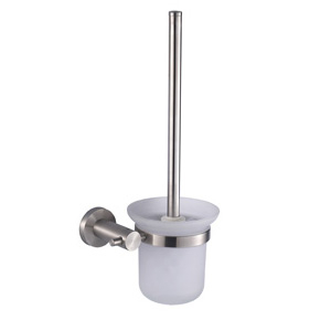 Stainless Steel Satin Toilet Brush Holder