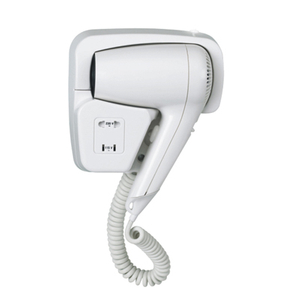 Wall Mounted Push-Button Hair Dryer
