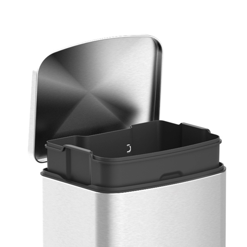 Pedal Square 40L Bin with Soft Close Lid