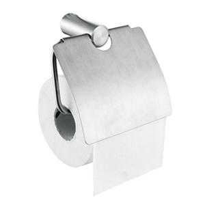 Stainless Steel Satin Toilet Roll Holder with Cover